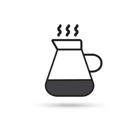 Kettle icon on white background