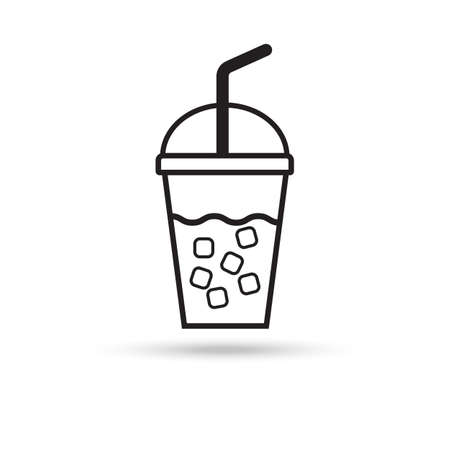 ice coffee icon on white background