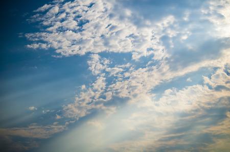 Blue sky, white clouds, sky, fantasy, beauty