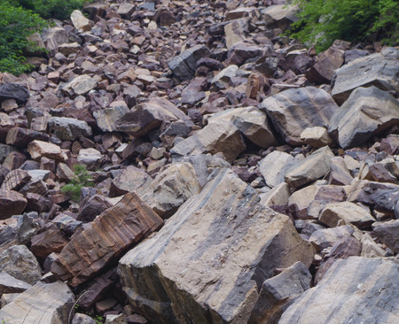 natural force: A lot of stone, the power of nature, the danger Stock Photo