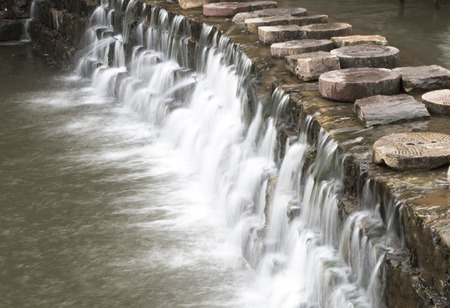 scour: water flow Stock Photo