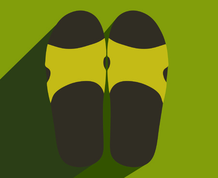 slipper: Slipper, foot, background, projection Illustration