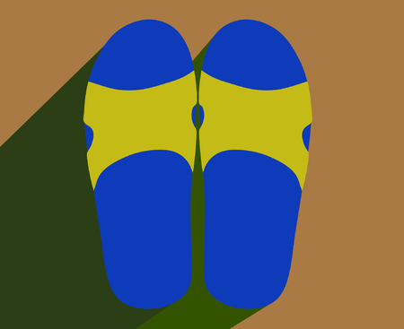 slipper: Slipper illustration with shadow Illustration