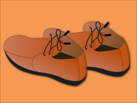 leather shoes: Shoes, leather shoes, illustrations, feet Illustration
