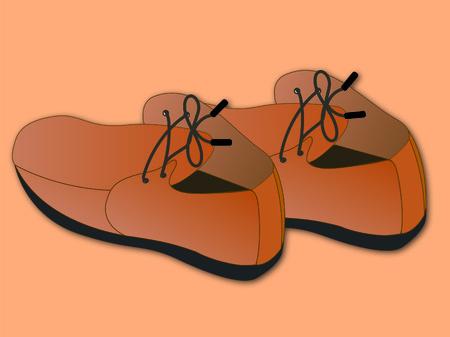 Shoes, leather shoes, illustrations, feet Vektorové ilustrace
