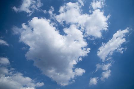 cloud drift: Blue sky, white clouds, cloudy
