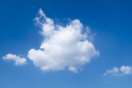 cloud drift: Blue sky, white clouds Stock Photo