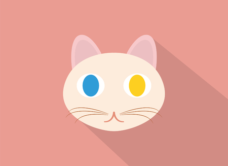 A lovely cats head Иллюстрация