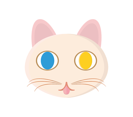 A lovely cats head Illustration