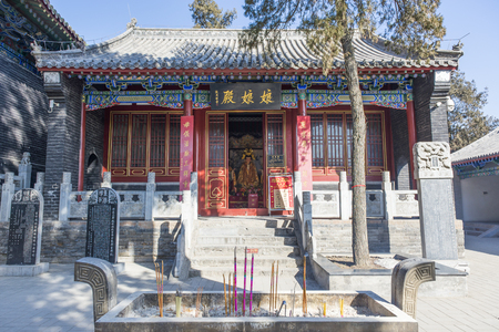Visit the Luoyang Guan Lin Temple Scenic Area in winter Editorial