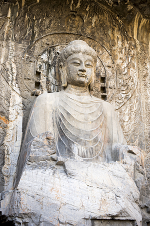 Travel to Longmen Grottoes in Luoyang in winter Editorial