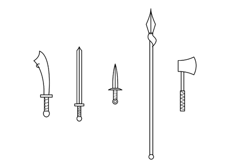 Elements of traditional Chinese weapons
