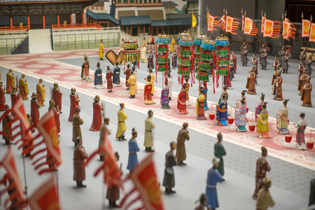 figurines that represent the Chinese history Editorial