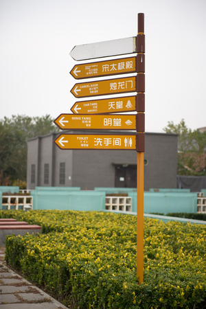 Signposts of tourist attractions Editorial