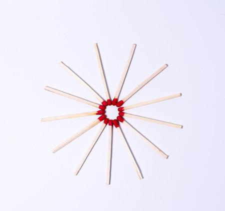 Matches on white background Reklamní fotografie