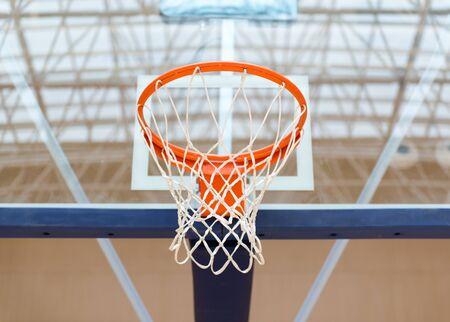 Backboard basket on the basketball court