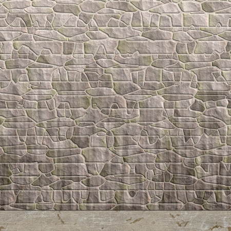 Gray stone wall background illustration Stock Illustration - 15019062