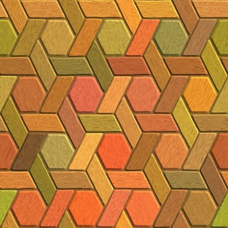 mosaic floor: Wood mosaic seamless background