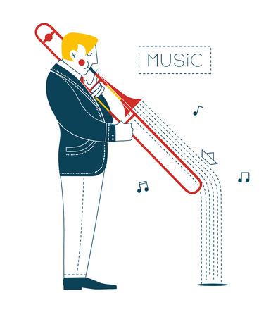 trombone: Man playing trombone