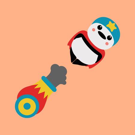 slicker: panda cannonball