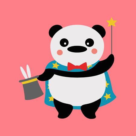 Panda magician Vector