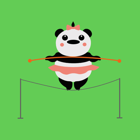 daring: panda acrobat Illustration