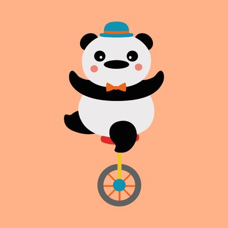 Panda cyclist Vector