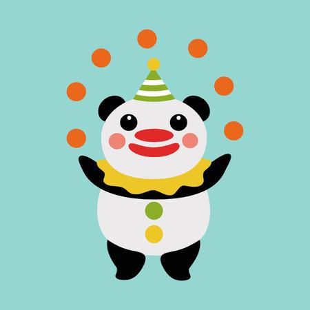 Panda juggler Vector