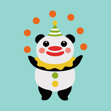 Panda juggler 向量圖像