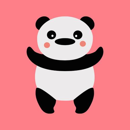fatso: Panda on a pink background