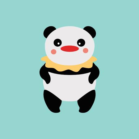 panda clown Vector