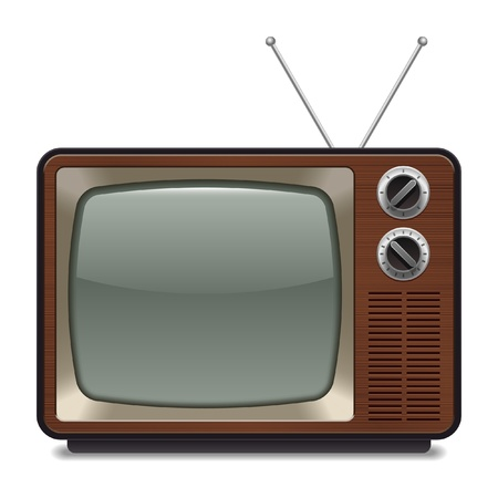 tv monitor: vintage television Illustration