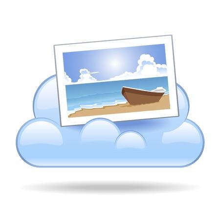 stored: Cloud Photo Illustration