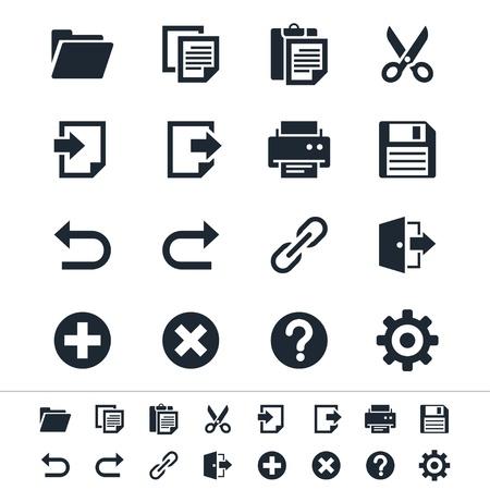 Ic�nes de la barre d'application Illustration