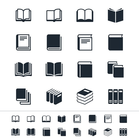Book icons Stock Vector - 17978865