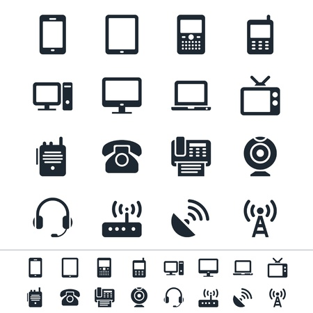 Communication device icons Stock Vector - 17978876