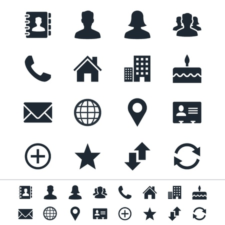 locator: Contact icons