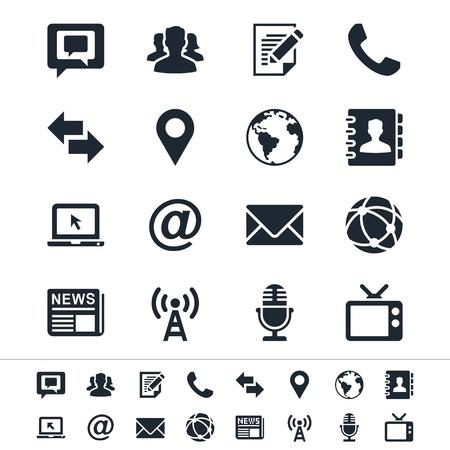 メディアとコミュニケーションのアイコン  イラスト・ベクター素材