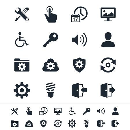 Instellen van pictogrammen Stock Illustratie