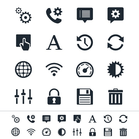 speed of sound: Setting icons