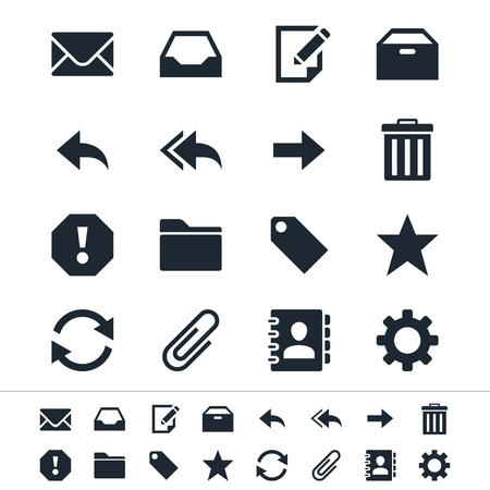 junk mail: Email icons Illustration
