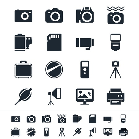 Fotografie pictogrammen