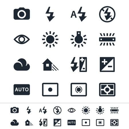 Photographie icônes Vecteurs