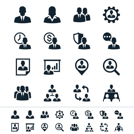 Homme icônes de gestion des ressources Banque d'images - 18705272
