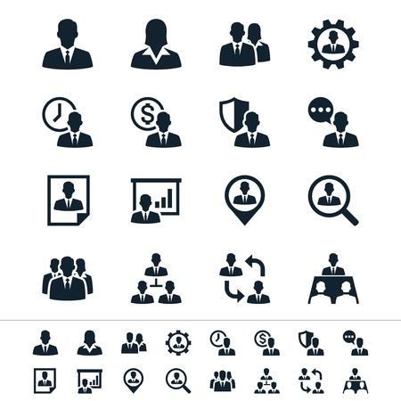 Humanos iconos de gestión de recursos Foto de archivo - 18705272