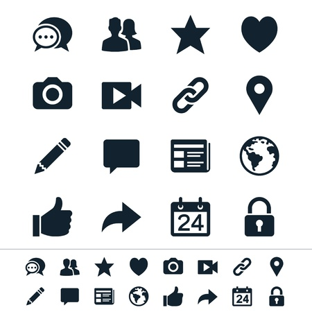 feedback link: Social network icons
