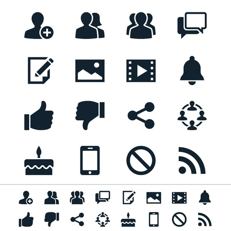 thumbs up icon: Social network icons