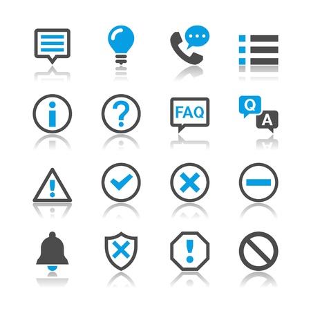 Informatie en aanmelding iconen - reflectie thema