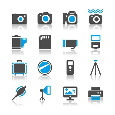 polarizing: Photography icons - reflection theme
