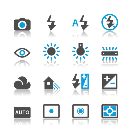 Photography icons - reflection theme Vector